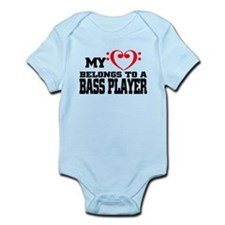 My Heart Belongs to a Bass Player Body Suit