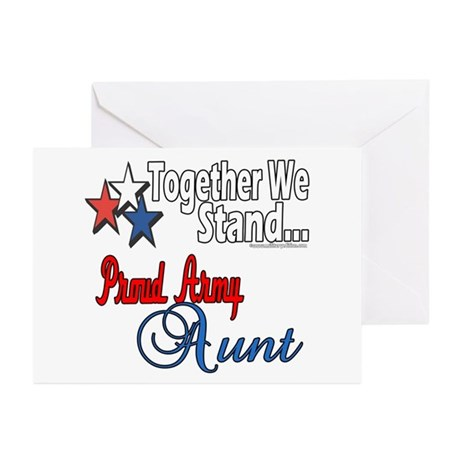 Proud Army Aunt Greeting Cards (Pk of 10)