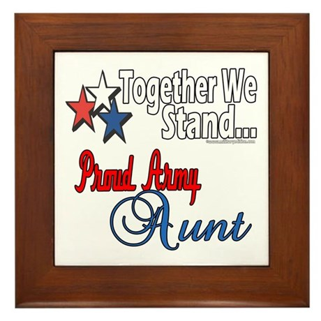 Proud Army Aunt Framed Tile