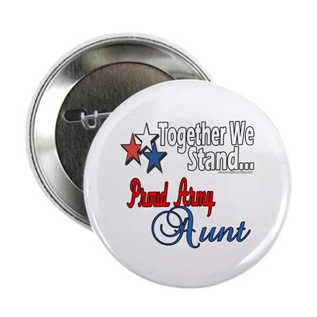 """Proud Army Aunt 2.25"""" Button (10 pack)"""