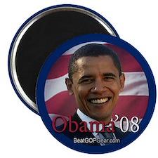 """""""Barack Obama 2008"""" 2.25"""" Magnet (100)"""