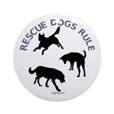 Rescue Dogs Rule Ornament (Round)