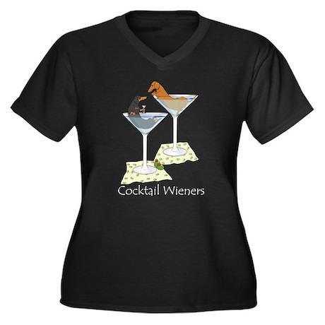 Cocktail Wieners (duo) Women's Plus Size V-Neck Da
