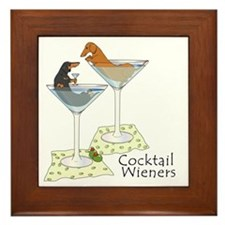 Cocktail Wieners (duo) Framed Tile