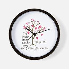 STUCK IN MY FAMILY TREE Wall Clock