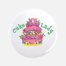 "CAKE LADY 3.5"" Button"