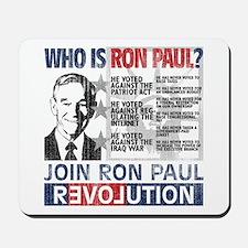 Who is Ron Paul? 'Vintage' Mousepad