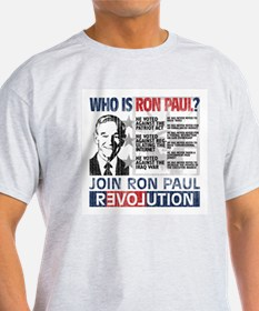 Who is Ron Paul? 'Vintage' T-Shirt