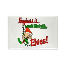 Happiness is an Elf Rectangle Magnet