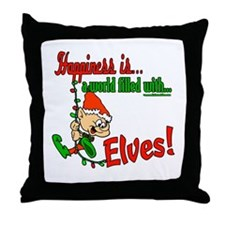 Happiness is an Elf Throw Pillow