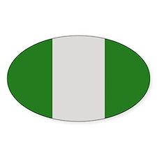 """Nigeria Flag"" Oval Bumper Stickers"