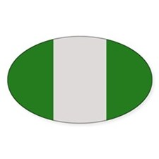 """""""Nigeria Flag"""" Oval Decal"""