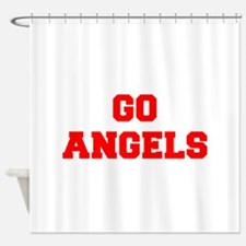 ANGELS-Fre red Shower Curtain