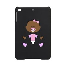 BABY GIRL WITH PACIFIER iPad Mini Case