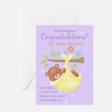 1st Time Parents Pregnancy Card Greeting Cards