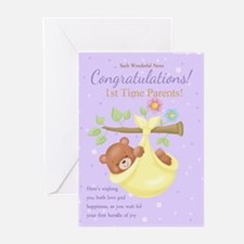 1st Time Parents Greeting Cards (pk Of 10)
