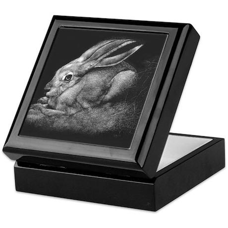 """""""Sage II"""" Black-tailed Jackrabbit Keepsake Box"""