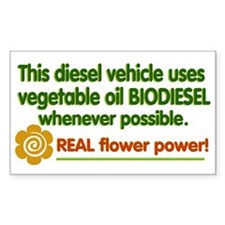 Biodiesel small bumper sticker