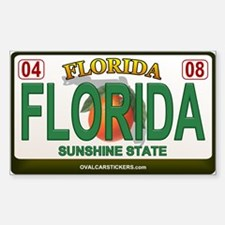 Florida License Plate Rectangle Decal