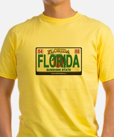 Florida License Plate T