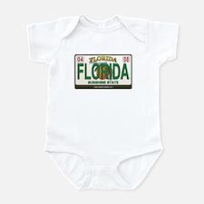 Florida License Plate Infant Bodysuit