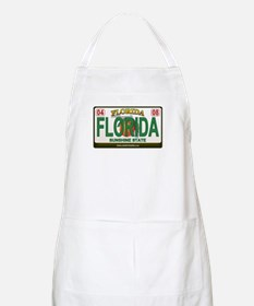 Florida License Plate BBQ Apron
