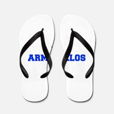 Armadillos-Fre blue Flip Flops