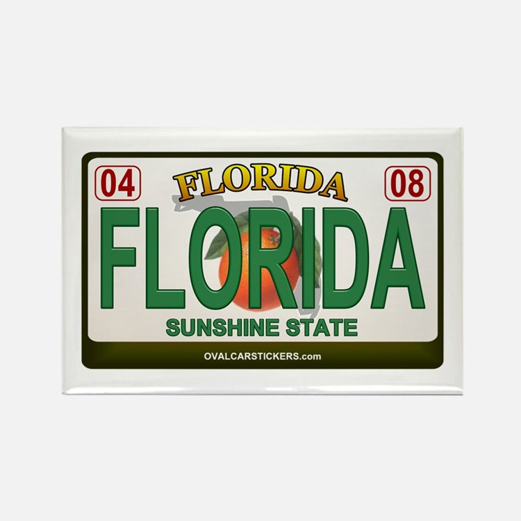 Florida License Plate Rectangle Magnet