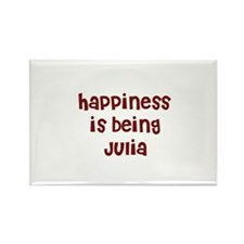 happiness is being Julia Rectangle Magnet