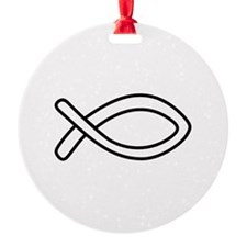 CHRISTIAN FISH OUTLINE Ornament