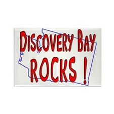Discovery Bay Rocks ! Rectangle Magnet