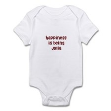 happiness is being Julia Infant Bodysuit