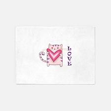 LOVE KITTY CAT 5'x7'Area Rug