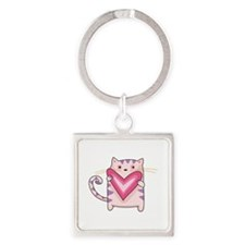 KITTY CAT WITH HEART Keychains