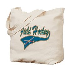 Field Hockey Blue Logo Tote Bag