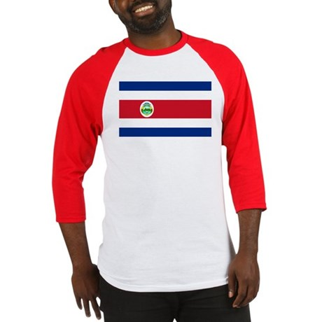 Costa Rica Flag Baseball Jersey