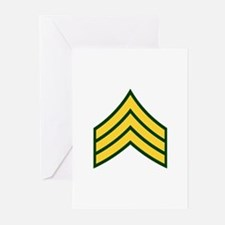 "Army E5 ""Class A's"" Greeting Cards (Pk of 10)"