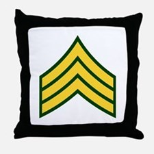 "Army E5 ""Class A's"" Throw Pillow"