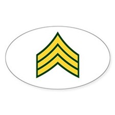"Army E5 ""Class A's"" Oval Decal"
