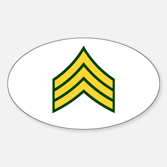"""Army E5 """"Class A's"""" Oval Decal"""
