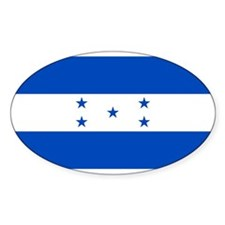 Honduras Flag Oval Decal