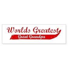 Greatest Great Grandpa (red) Bumper Bumper Sticker