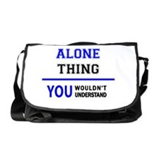 Cute You are not alone Messenger Bag