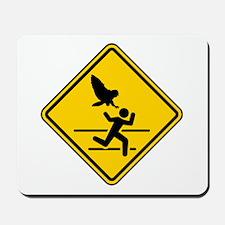 Oregon Owl Attack Warning Mousepad