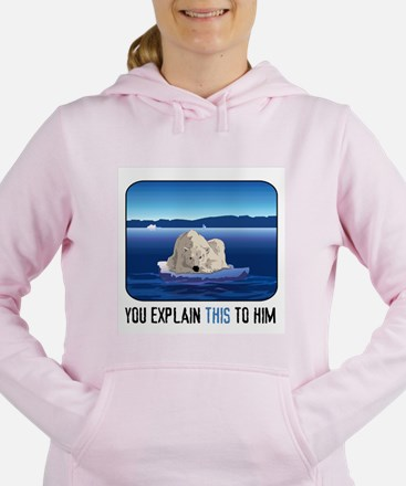 Arctic Polar Bear Women's Hooded Sweatshirt