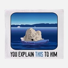 Arctic Polar Bear Throw Blanket