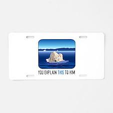 Arctic Polar Bear Aluminum License Plate