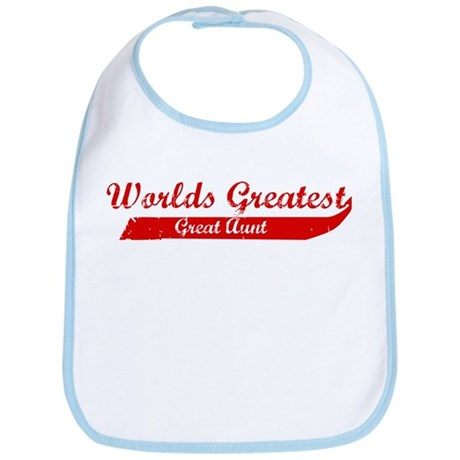 Greatest Great Aunt (red) Bib