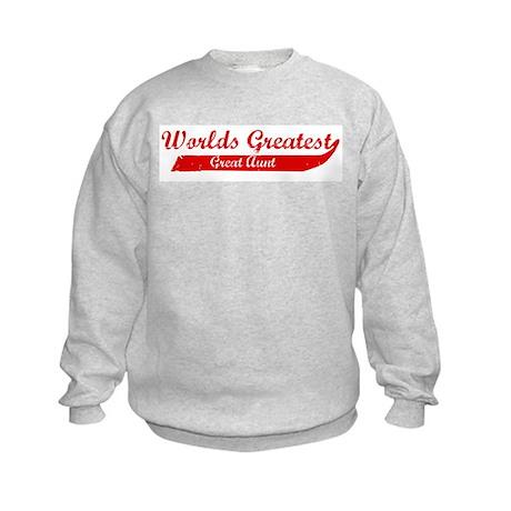 Greatest Great Aunt (red) Kids Sweatshirt