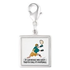 If Lacrosse Was Easy Silver Square Charm